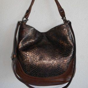 New FRYE 'Melissa' Snake Embossed Leather Hobo